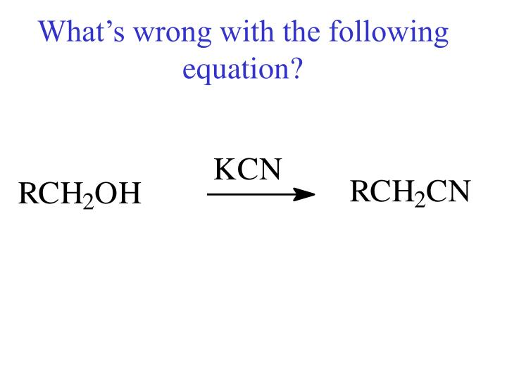 What's wrong with the following equation?