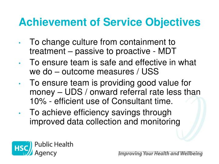 Achievement of Service Objectives