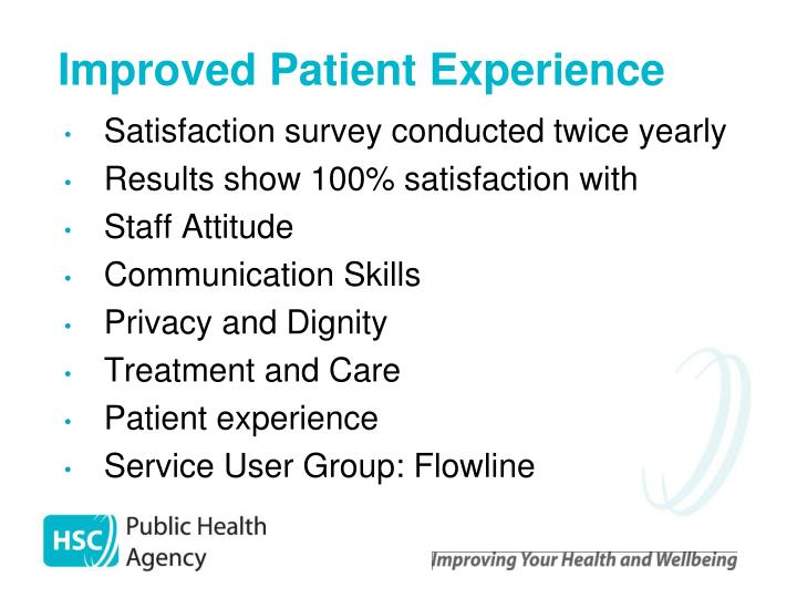 Improved Patient Experience