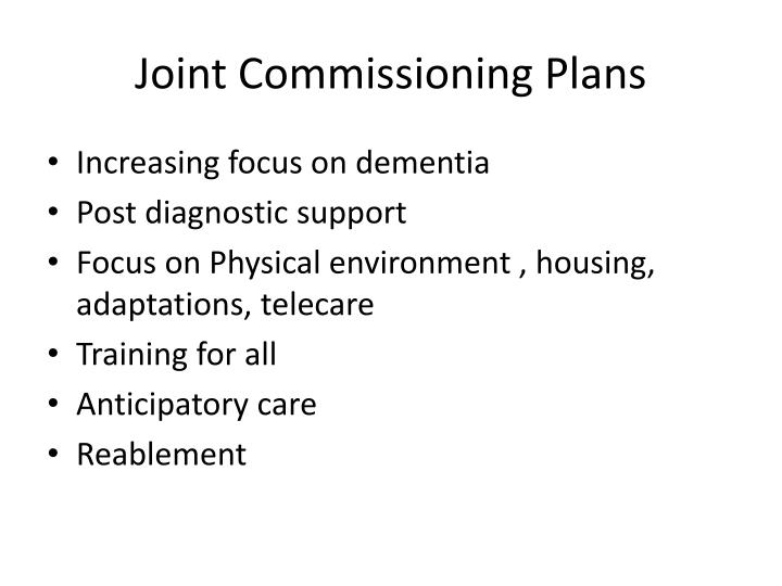 Joint Commissioning Plans