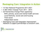 reshaping care integration in action
