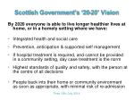 scottish government s 20 20 vision