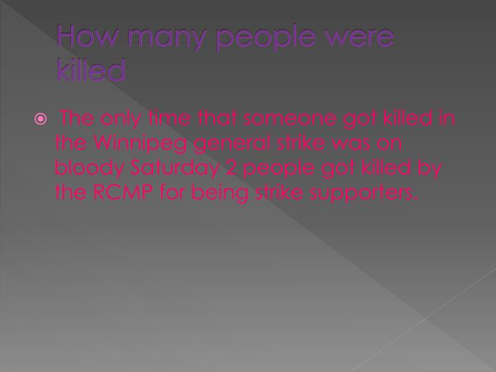 How many people were killed