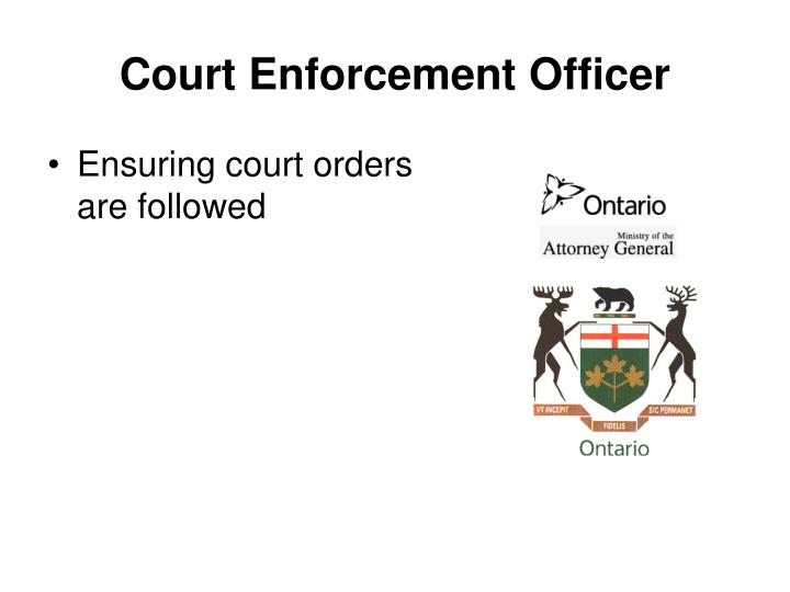 Court Enforcement Officer