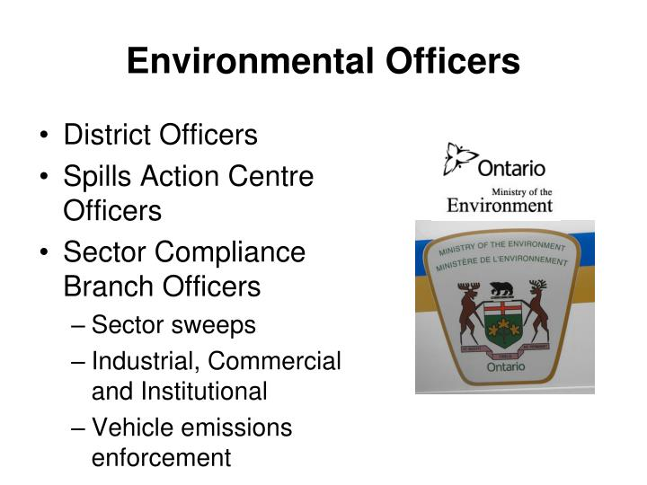 Environmental Officers
