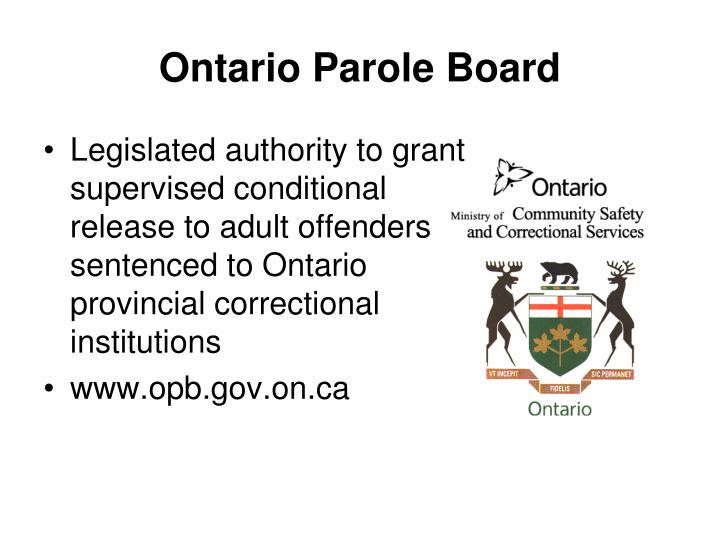 Ontario Parole Board