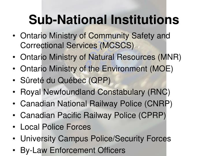 Sub-National Institutions