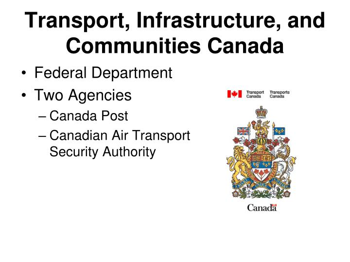 Transport, Infrastructure, and Communities Canada
