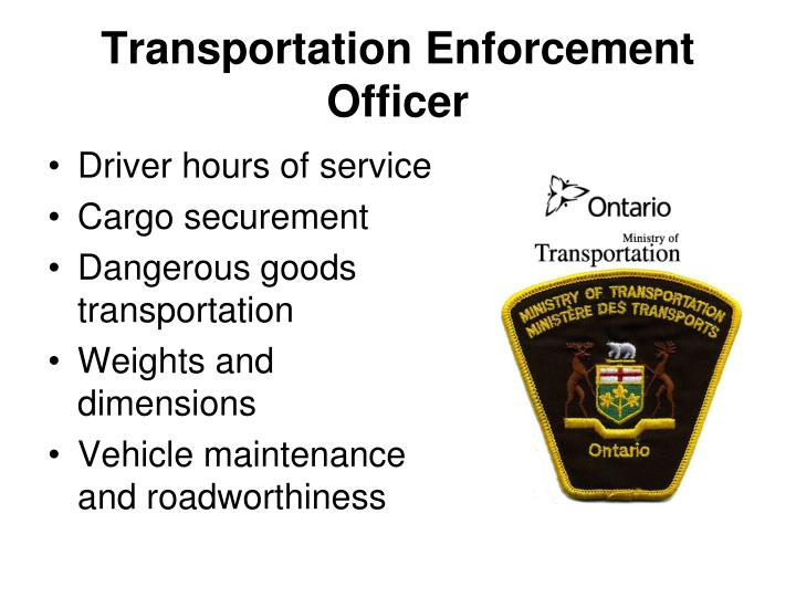 Transportation Enforcement Officer