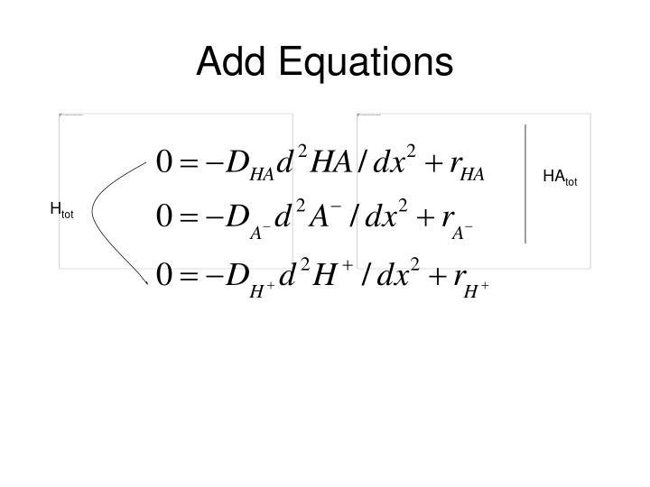Add Equations