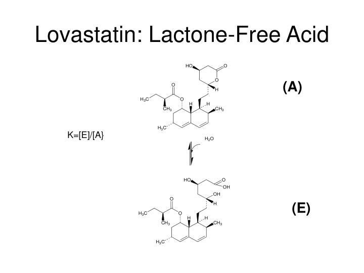 Lovastatin: Lactone-Free Acid