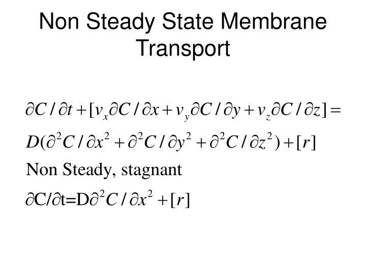 Non Steady State Membrane Transport