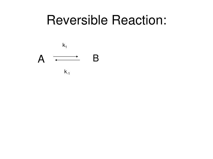 Reversible Reaction: