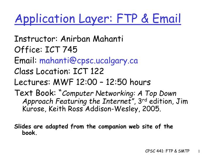 Application layer ftp email