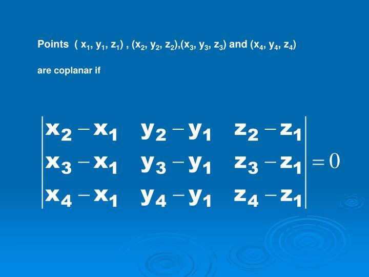 Points  ( x