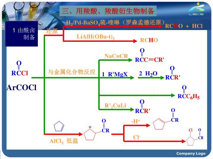 三、用羧酸、羧酸衍生物制备