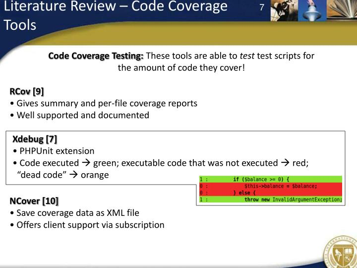 Literature Review – Code Coverage Tools