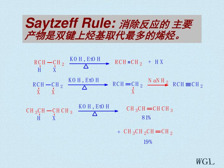Saytzeff Rule: