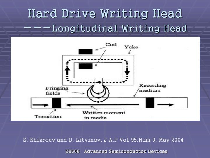 Hard Drive Writing Head