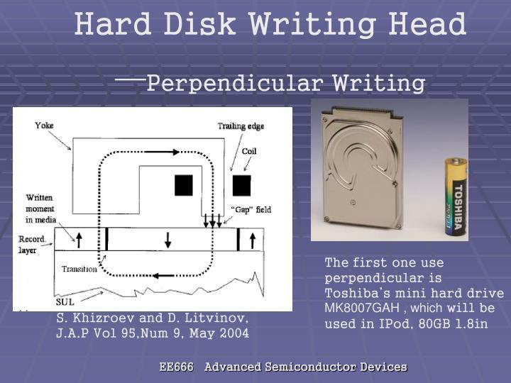 Hard Disk Writing Head