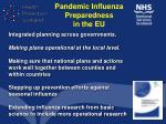 pandemic influenza preparedness in the eu