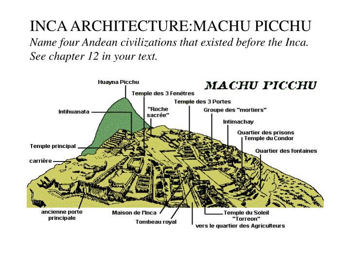 INCA ARCHITECTURE:MACHU PICCHU