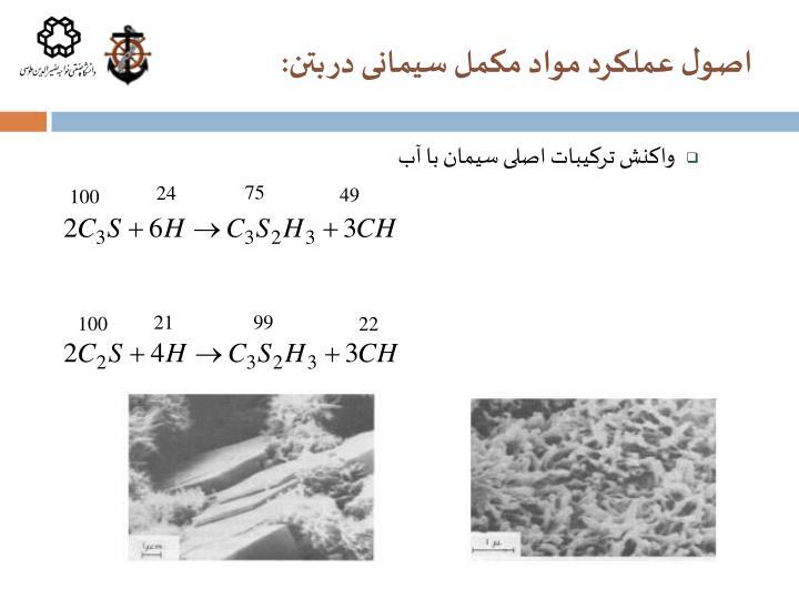 اصول عملکرد مواد مکمل سیمانی در بتن