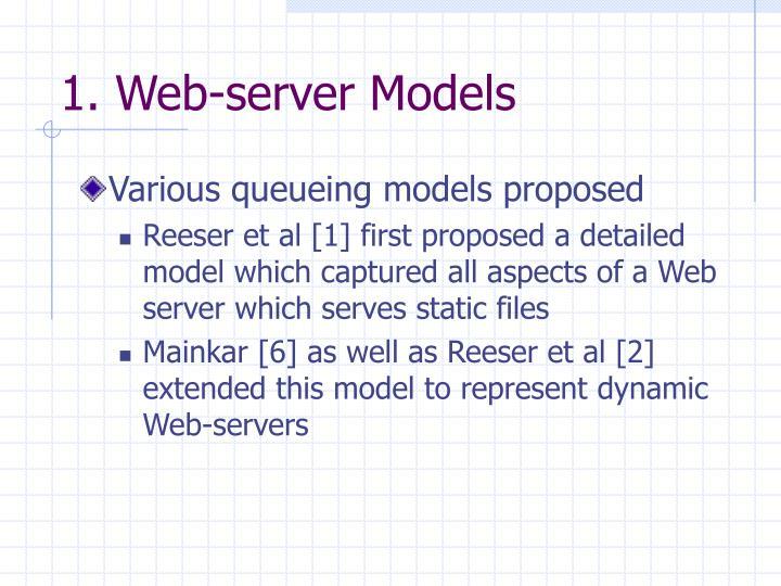 1. Web-server Models