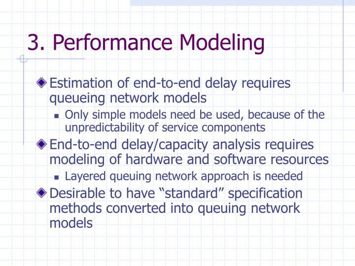 3. Performance Modeling