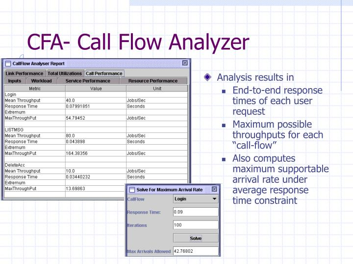 CFA- Call Flow Analyzer