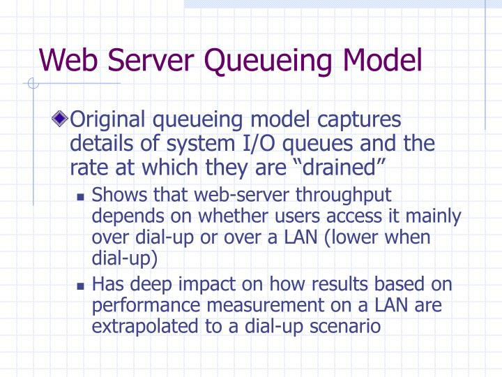 Web Server Queueing Model