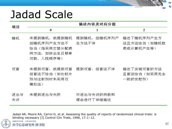 Jadad Scale