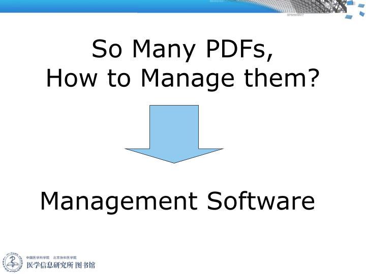 So Many PDFs,