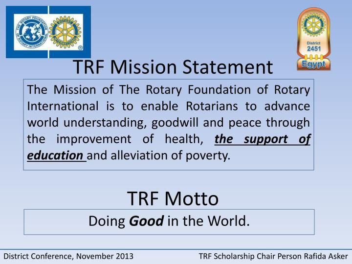 Trf mission statement