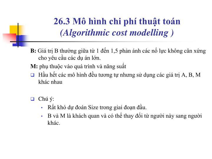 26.3 Mô hình chi phí thuật toán