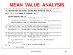 mean value analysis4