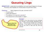 queueing lingo6