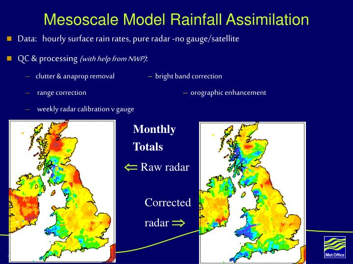 Mesoscale Model Rainfall Assimilation