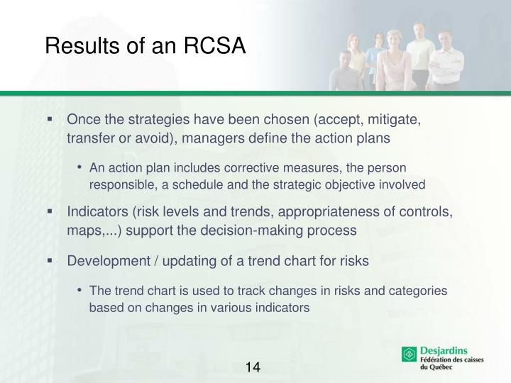 Results of an RCSA