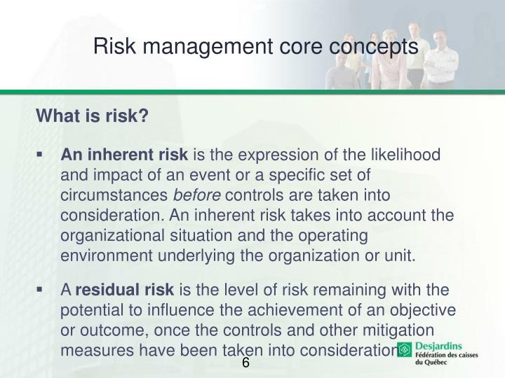 Risk management core concepts