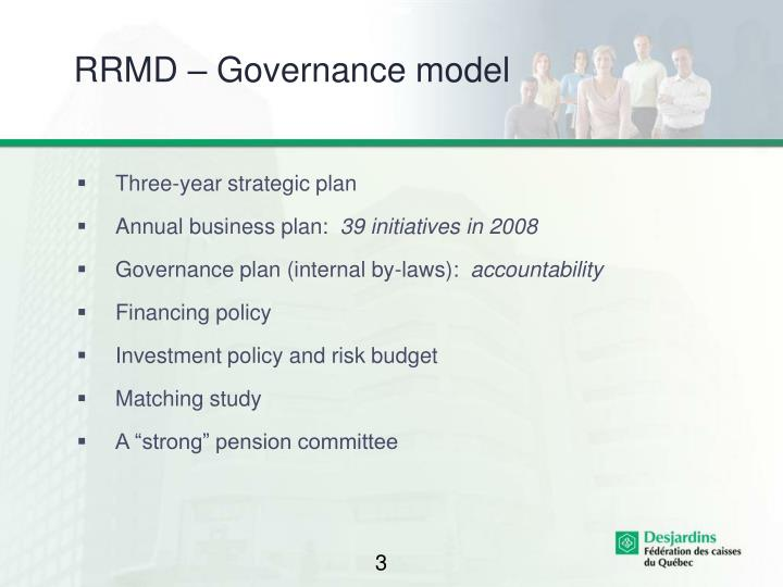 Rrmd governance model