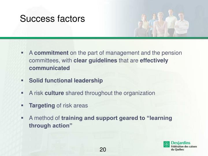 Success factors