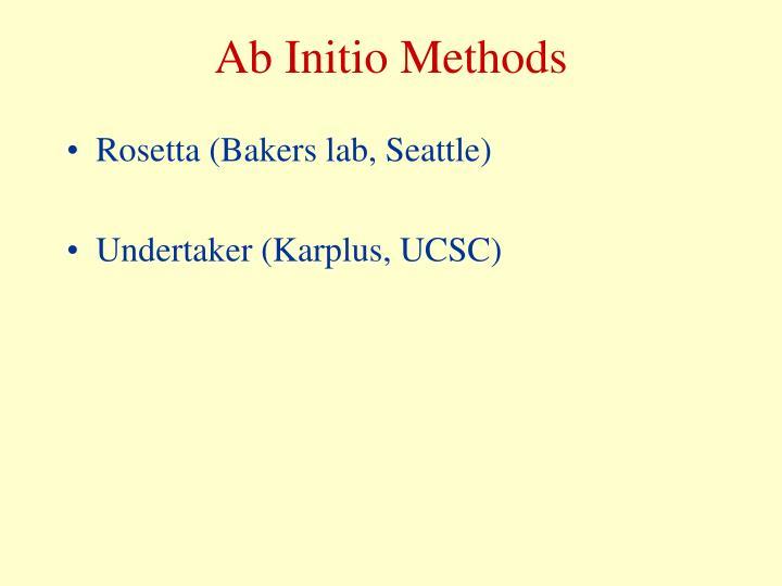Ab Initio Methods