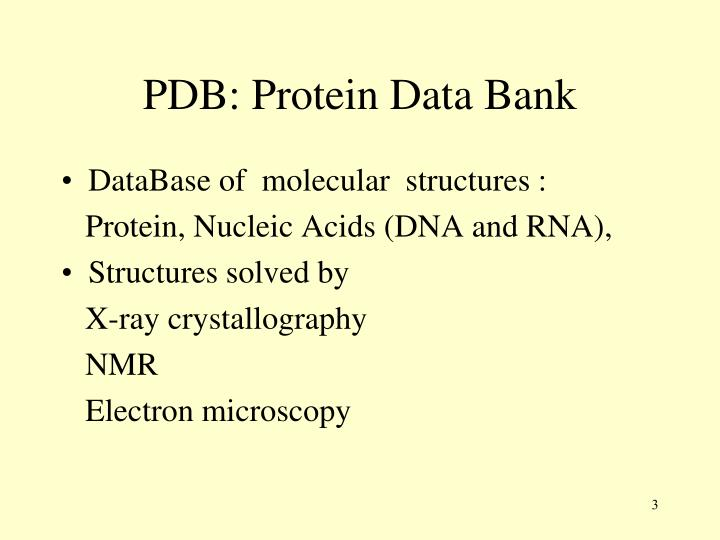 Pdb protein data bank