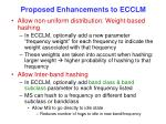 proposed enhancements to ecclm