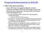 proposed enhancements to ecclm1