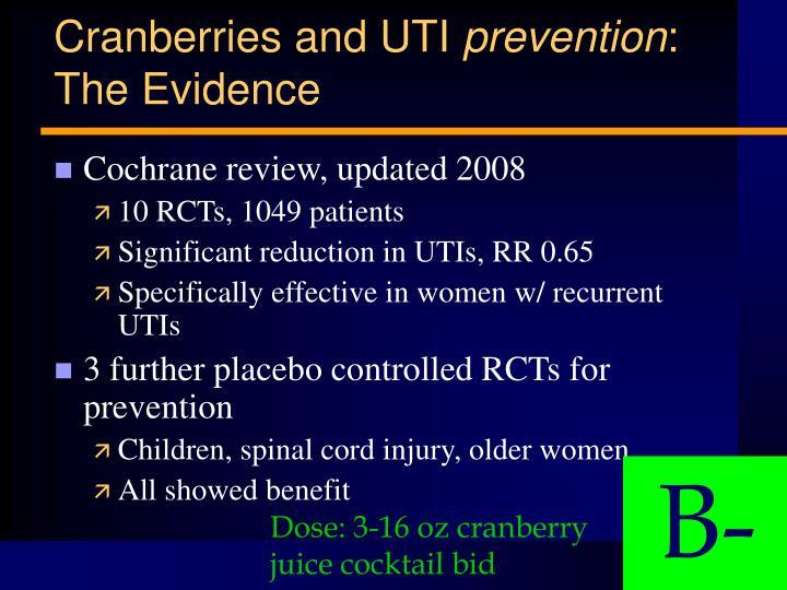 Cranberries and UTI