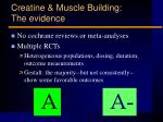 creatine muscle building the evidence