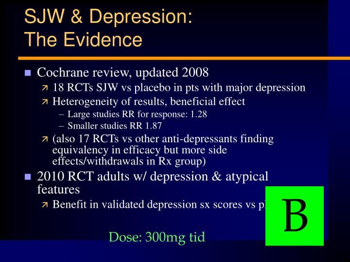 SJW & Depression:
