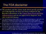 the fda disclaimer